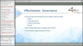 One-Stop Certification and One-Stop Operation Procurement (1/25/17)