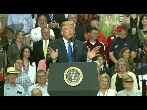 President Donald Trump ignited a crowd at a campaign rally in Mississippi on Tuesday by mocking Christine Blasey Ford, the woman who claimed she was sexually assaulted by Supreme Court nominee Brett Kavanaugh decades ago. (Oct. 3)