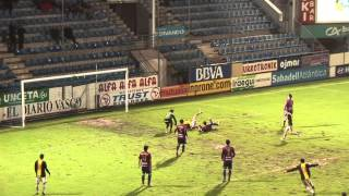 preview picture of video 'Eibar 2-3 Zaragoza B Resumen del partido. Jornada 20 Grupo II Segunda B.'