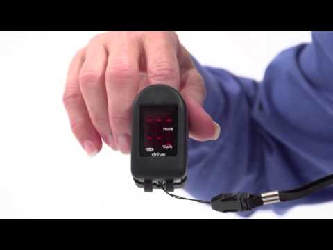 Drive Medical Fingertip Pulse Oximeter Quick video on how to use a finger pulse oximeter.