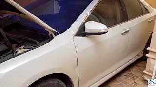 مكان بلف بخارزيت المحرك وطريقة استبداله وفك الثروتل والثلاجة كامري 2012 الى 2017   Kholo.pk