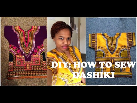 ✂️ DIY: HOW TO MAKE A DASHIKI TOP WITH POCKETS....ANKARA IN 4 MINS
