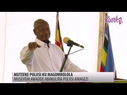 Museveni awadde abakulira Poliisi amagezi okuteeka poliisi  ku magombolola