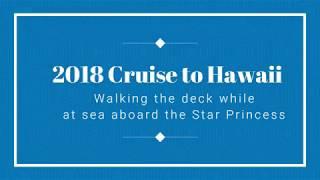 2018 Star Princess Cruise to Hawaii Walking the deck