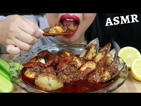 MUSSELS, SHRIMPS, SAUSAGE, POTATO AND EGGS SOAKING IN BLOVES SAUCE ~ ASMR (No Talking)