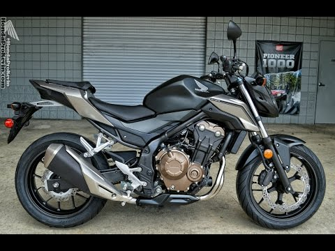 2016 Honda CB500F Naked Sport Bike | Motorcycle Walk-Around Video (500cc) | Matte Black Metallic