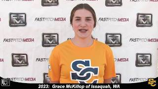 2023 Grace McKillop Athletic Pitcher and First Base Softball Skills Video - Ca Suncats