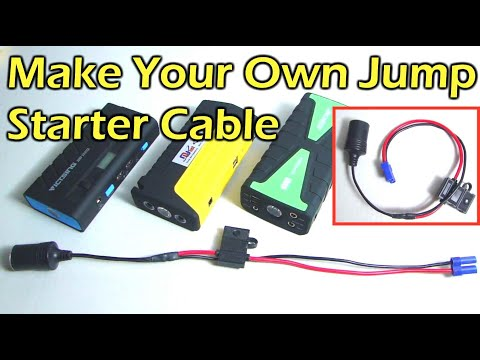 How To Make A Portable Jump Starter Adapter Cable