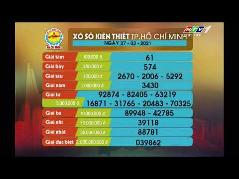 Xổ số kiến thiết TP.HCM || HTV1 || 27/03/2021
