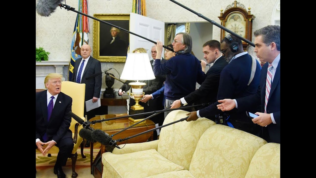Trump Kicks Reporter Out Of Oval Office thumbnail