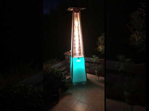Vancouver Gázüzemű Látvány Hősugárzó LED megvilágítással - BFH-A-LED - PB gáz üzemű - TERASZ FŰTŐ