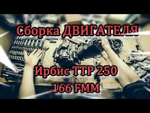 Сборка двигателя Ирбис ТТР 250 (166 FMM)/Ремонт КПП/Замена колец