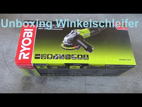 Unboxing Ryobi Winkelschleifer 125mm 800 W Rag800 125G Flex Werkzeug