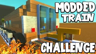 Scrap Mechanic - MODDED TRAIN CHALLENGE! VS AshDubh - [#48] | Gameplay