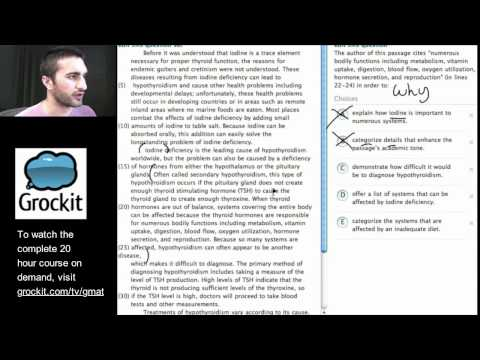 Grockit GMAT and MBA Admissions Course: Lesson 8, Part 1 – Verbal Critical Reasoning