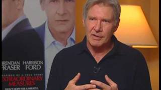 "Renee interviews Harrison Ford for the film ""Extraordinary Measures"""