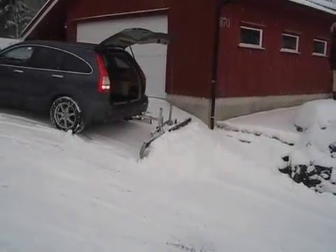 Home made Snow plow Honda CR-V in Norway
