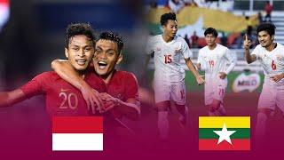 Bán kết U22 Indonesia Vs U22 Myanmar | SEA Games 2019
