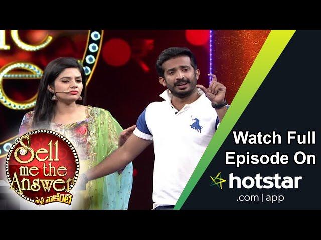 Sreemukhi and Ravi at Sell Me The Answer – 11th September 2016 – Full Episode