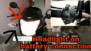 Make headlight connection on battery of bike | hero passion xpro | easy and simplest
