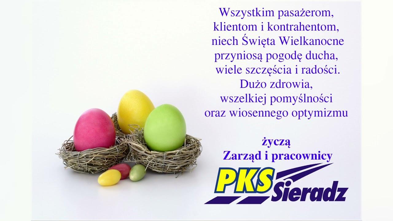 Wielkanocne życzenia PKS Sieradz