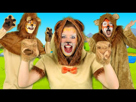 Lion Song - What Sound Does A Lion Make? | Animal Sounds Song For Children