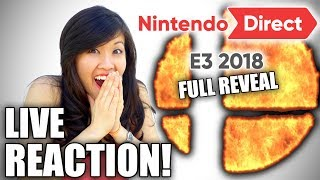 Nintendo Direct E3 2018 [LIVE REACTION!] Super Smash Bros ULTIMATE