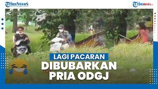 Viral Video Remaja Lagi Asyik Pacaran di Taman Dibubarkan oleh ODGJ