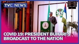 Full Address of President Buhari on COVID-19 (Watch)