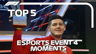 Top 5  Moments | F1 Esports Pro Series 2019 Grand Final