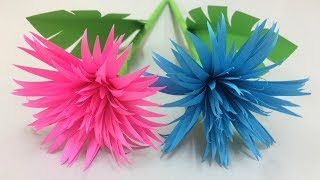 Diy paper craft how to make lavender paper flowers easy art how to make beautiful flower with paper making paper flowers step by step diy mightylinksfo