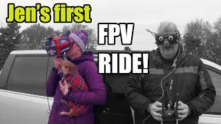 Jen's first FPV ride