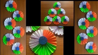 15 August decoration ideas for school bulletin board/independence Day paper origami decoration idea