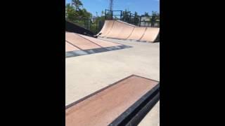 Kid slams hard on skateboard