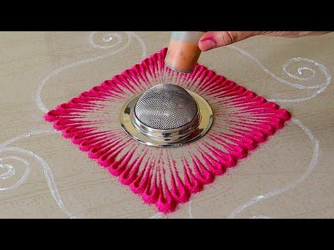 latest muggulu rangoli design for navaratri by pakka local