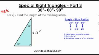 Special Right Triangles - Part 3 (30-60-90)