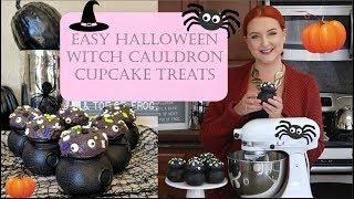 EASY WITCHS CAULDRON HALLOWEEN CUPCAKES | HALLOWEEN CAULDRON CAKES | SIRENA GRACE CELES