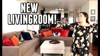 NEW LIVING ROOM TIME LAPSE! -  ItsJudysLife Vlogs