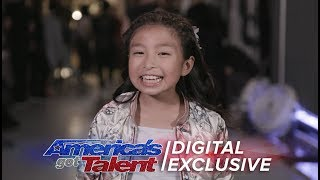 Gambar cover Elimination Interview: Celine Tam Thanks Her Fans - America's Got Talent 2017