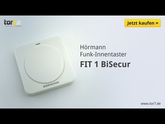 Produktvideo Hörmann Funk-Innentaster FIT 1, BiSecur
