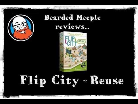 Bearded Meeple reviews Flip City: Reuse