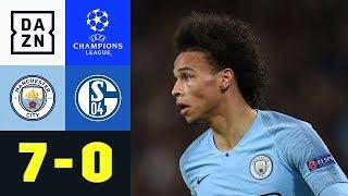 Sahne-Tag: Leroy Sane Versohlt Ex-Klub: Manchester City - Schalke 04 7:0 | Champions League | DAZN