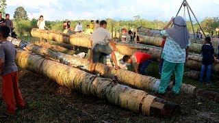 Suasana Tradisi Perang Meriam Karbit di Kabupaten Hulu Sungai Tengah saat Lebaran