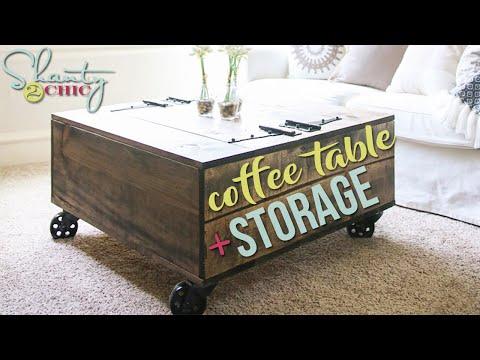 DIY Kaffeetisch - Wohnzimmereinrichtung mit genügend Stauraum