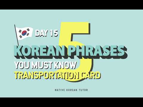 Day 15 - Getting help with your Transportation Card in Korea