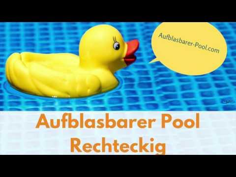 aufblasbarer Pool rechteckig