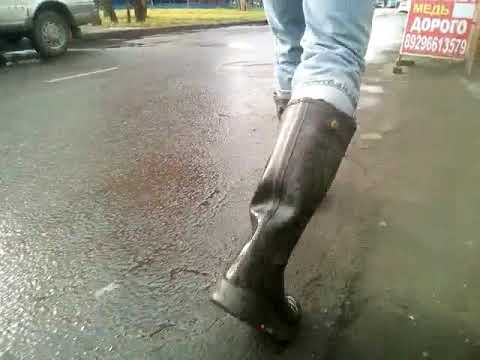 MSV. Any puddles pass along fence in my Verney-Carron foxboot ZIP rubber boots.