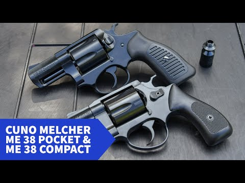 melcher-sportwaffen: Test & Technik: Die Schreckschussrevolver Melcher ME 38 Magnum, Compact und Pocket im Video