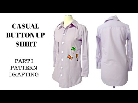 Download How To Draft Pattern  | Casual Button Up Shirt (Part I) HD Mp4 3GP Video and MP3