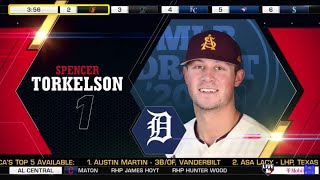 Detroit Tigers Select Spencer Torkelson From Arizona State In The 1st Round Of The 2020 MLB Draft